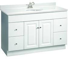 "Design House 531145 Wyndham 48"" Wood Vanity Cabinet Only White Fixture Vanity Single"