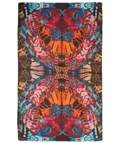 Lily and Lionel Fuschia Papillo Scarf | Scarves by Lily and Lionel | Liberty.co.uk