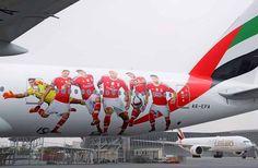 NewsAvia   Emirates dedica avião ao Sport Lisboa e Benfica