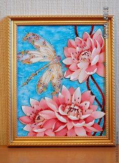 """Картины цветов ручной работы. Ярмарка Мастеров - ручная работа """"Лотосы"""". Handmade."""