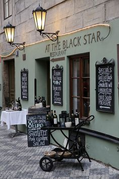 Black Star restaurant in Prague, Czechia #Prague #Czechia #restaurant