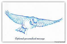 Personalised Bird in flight Art Print by FirecrestHandmade on Etsy