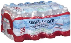I'm learning all about Crystal Geyser® Natural Alpine Spring Water® 35 Ct Plastic Bottles at @Influenster!