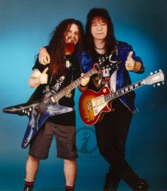 The legendary Ace Frehley with Dimebag Darrell