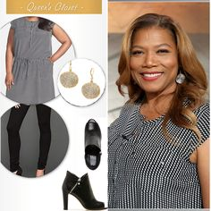 Queen Latifah Wardrobe: May 7, 2014 -  If you are interested in creating a look like this visit our website weekly for gently used fashions at www.occasionallyblackandwhite.com