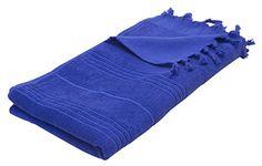 "Eshma Mardini Luxury Turkish Cotton Bath Towel Ultra Absorbent and Soft 73"" x 35.5"" - Royal Blue - $17.95"