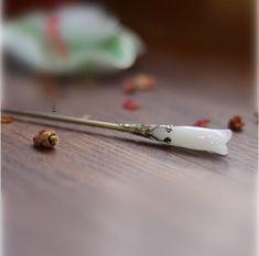 Handmade Ancient Chinese Glass Magnolia Hairpin