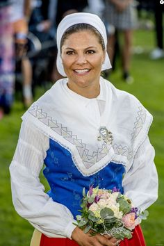 Crown Princess Victoria of Sweden attends the celebrations for her 40th birthday at Borgholm IP on July 14, 2017 in Borgholm, Sweden.