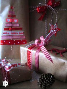 Vooral het pakje erachter met die kerstboom van masking tapw vond ik mooi ! The Little Corner