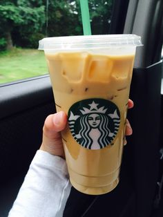 This is my regular: Venti Iced Caramel macchiato, upside down, light on the ice, extra caramel!
