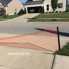 "@AhhMazingRvws ""This retractable barrier was exactly what I needed.  Being so bright orange in color, it is hard to miss and lets cars know that they aren't to pull into our driveway.  It also catches chalk and balls that roll to the bottom of the driveway that would otherwise end up in the street..."""