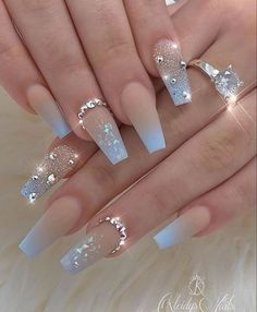 20 Elegant Acrylic Blue Nails Design For Coffin and Stiletto Nails - Easy Nail Designs 💅 Acrylic Nails Coffin Short, Blue Acrylic Nails, Summer Acrylic Nails, Gold Nails, Blush Nails, Wedding Acrylic Nails, Nail Art Blue, Summer Nails, Blue Wedding Nails