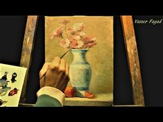 Oil Painting  Still Life  Vase With Flowers by Yasser Fayad