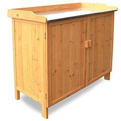 http://ift.tt/1k1qleH Habau Gartentisch mit Unterschrank Gelb 98 x 48 x 95 cm #c@!