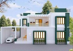 house front elevation designs for double floor in india using entrance door colours and paint house stucco exterior for modern hill country house plans - Best Home Interior Design House Outside Design, House Front Design, Small House Design, Modern House Design, Minimalist House Design, Home Design, 2 Storey House Design, Duplex House Design, Village House Design