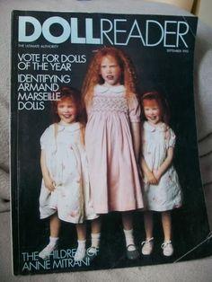 Anne Mitrani's OOAK dolls on the cover of Doll Reader Magazine Ooak Dolls, Art Dolls, Girls Dream, Every Girl, Beautiful Dolls, Polymers, My Love, Children, Boudoir