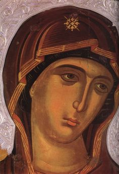 П.36а.Панагия -Лик Madonna, Byzantine Icons, Byzantine Art, Religious Icons, Religious Art, Russian Icons, Art Thou, Blessed Virgin Mary, Orthodox Icons
