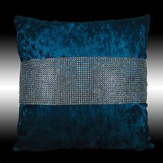 2X-SHINNY-BLING-SILVER-BLUE-THICK-VELVET-CUSHION-COVERS-THROW-PILLOW-CASES-17