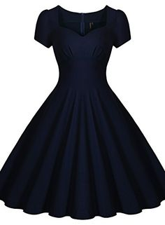 Miusol® Women's Classical Retro Square Neck Cap Sleeve Bridesmaid Formal Dress (XX-Large, Navy Blue) Miusol http://www.amazon.com/dp/B014MDE7R2/ref=cm_sw_r_pi_dp_6IB9vb1S9GGNN