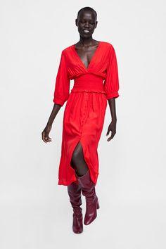 da35292b90b6 Image 4 of DRESS WITH ELASTIC WAISTBAND from Zara Elastic Waist