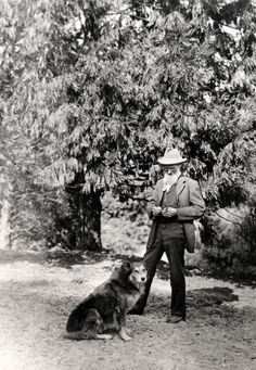 John Muir Is my great-grandfather by a couple greats. Love this pic of him. My dogs have always been there for me too.