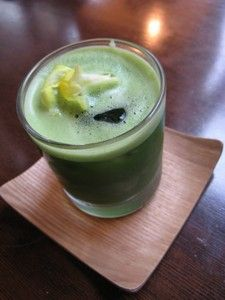 Places to visit....things to eat in Kyoto  Matcha soda at Iyemon Salon, Kyoto