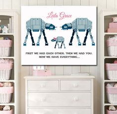 New Baby/Newborn Star Wars Kids Art Girl Room by StarWarsPrintShop, $20.00