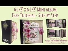 Step by step instructions on how to make a mini album X with spine mini album using Heartfelt Creations Classic. Halloween Mini Albums, Christmas Mini Albums, Photo Album Scrapbooking, Mini Scrapbook Albums, Scrapbook Layouts, Mini Albums Photo, Tutorial Scrapbook, Instax Mini Album, Mini Album Scrap