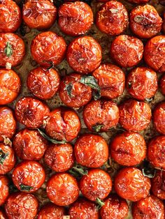Simple Roasted Tomatoes #recipe on http://foodiecrush.com