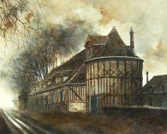 Marc Chapaud 1941 | French landscape painter | Tutt'Art@ French School, Tudor House, 16th Century, Landscape Paintings, Exterior, France, Paris, History, Architecture