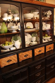 rehab/refab a china hutch -- amazing transformation -- brilliant