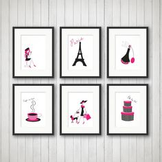 Paris Decor Teen Room Decor Fashion Print by SimplyLoveCreations