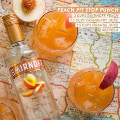 Smirnoff Peach Pit Stop Punch