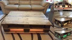 Pallet coffee table GLOWING