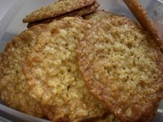 cook's illustrated thin & crispy oatmeal cookies  Truly the best oatmeal cookies - we reduce oats to 2c. and add in all the chocolate chips in the house (1/2-3/4 c.)
