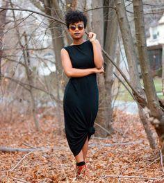 Dica de styling: maxi vestido + nó.
