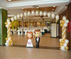 Decoracion para fiesta 15 a os decoraci n con globos - Decoracion con biombos ...