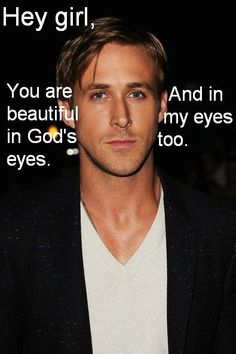 Hey girl, you are beautiful in God's eyes. And in my eyes too.