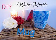 DIY water marble mug  #diy