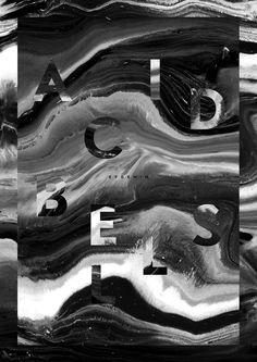 Typo vereint sich mit Hintergrund Acid Bells