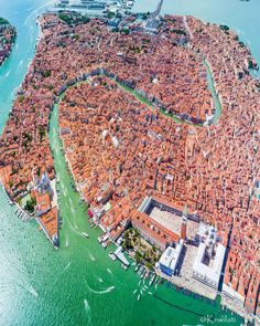 The floating city of Venice Italy Tag a friend Photo: Places To Travel, Places To Visit, Birds Eye View, Aerial Photography, Travel Photography, Places Around The World, Aerial View, Belle Photo, Italy Travel