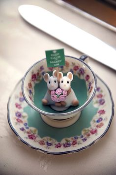 Teacup Mice by Quernus Crafts
