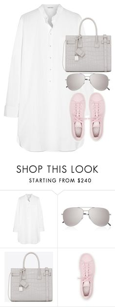 """Untitled #2829"" by elenaday on Polyvore featuring Tomas Maier, Yves Saint Laurent and adidas"