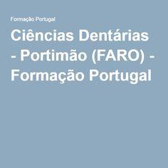 Ciências Dentárias - Portimão (FARO) - Formação Portugal