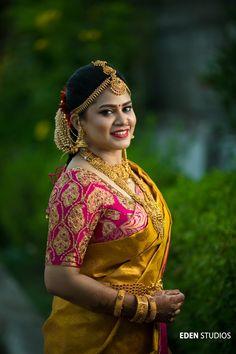 Beautiful Bridal Blouse Designs for South India - Indian Fashion Ideas Bridal Looks, Bridal Style, Indian Bridal Fashion, Bridal Blouse Designs, South Indian Bride, Indian Beauty Saree, Saree Wedding, Bridal Sarees, Wedding Shoot