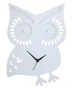 The perfect clock for young and old, this whimsical owl will perch happily on any wall in your home. Our gorgeous Owl has laser cut detailing and a sturdy wooden frame and would be a lovely new membe. Owl Clock, Whimsical Owl, Interior Decorating, Interior Design, Decoration, Wood Art, Metal Art, Nursery Decor, Owl Nursery