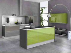 interieur maison moderne cuisine verte - Maison Moderne Cuisine