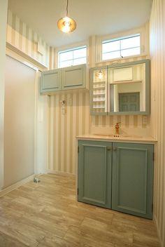 Toilet Tiles, Japanese House, Washroom, Powder Room, Sweet Home, Kitchen Cabinets, Interior Design, Storage, Furniture