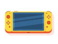 Nintendo Switch by Maxi Albella #Design Popular #Dribbble #shots