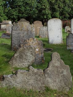 Headstones, Grave Headstones at All Saints Church Graveyard Frindsbury Kent.
